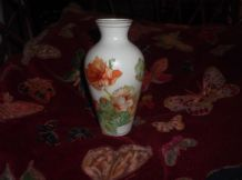 SMALL OLD ELEGANT GILDED FINE BISQUE GILDED VASE ORIENTAL POPPY GREY GROUND 4062